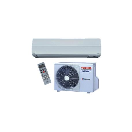 Système de thermopompe avec unité murale bi-blocs sans conduits Toshiba-Carrier
